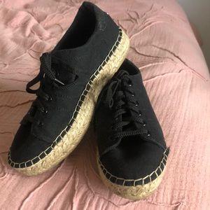 Steve Madden Black Espadrille Sneakers